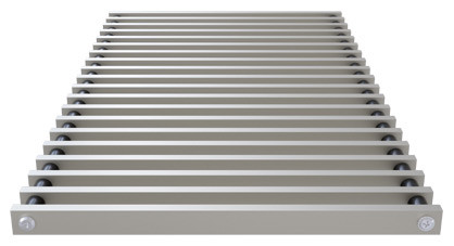 Roll-up aluminium grill, profile closed – Verano