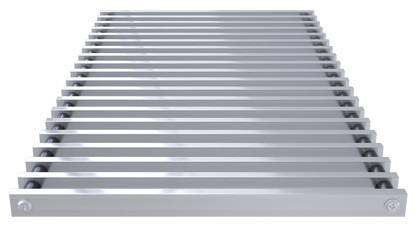 Roll-up aluminium grill, profile closed – Verano