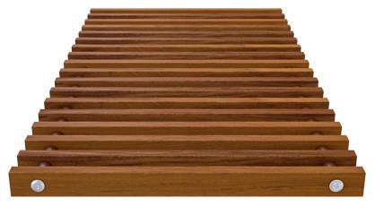 Roll-up wooden grill – merbau – Verano
