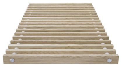Roll-up wooden grill – oak – Verano