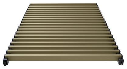 Modular aluminium grill anodized medium brown – Verano