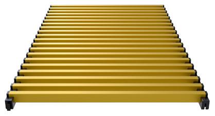 Modular aluminium grill anodized gold – Verano