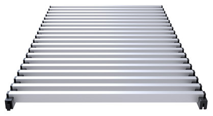 Modular aluminium grill anodized satin – Verano