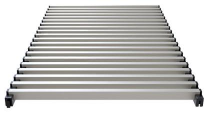 Modular aluminium grill anodized steel – Verano
