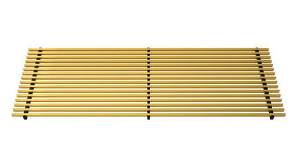 Linear aluminium grill anodized gold – Verano