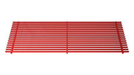 Linear aluminium grill painted red RAL  gold – Verano